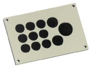 Type KDP/EN cable entry plate, metal